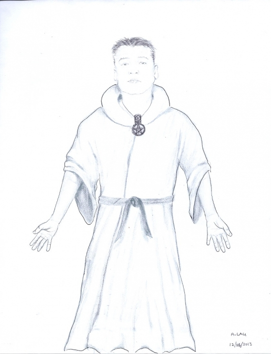 Allen in ceremonial Worship robe